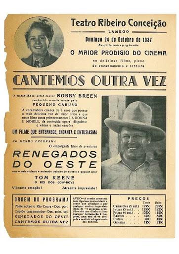 Memórias do Cinema no Teatro Ribeiro Conceição - Exposição de cartazes antigos