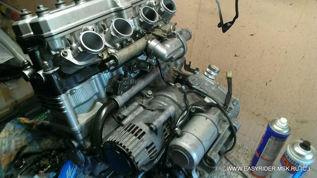 Двигатель Yamaha YZF1000 Часть 1 разбор.