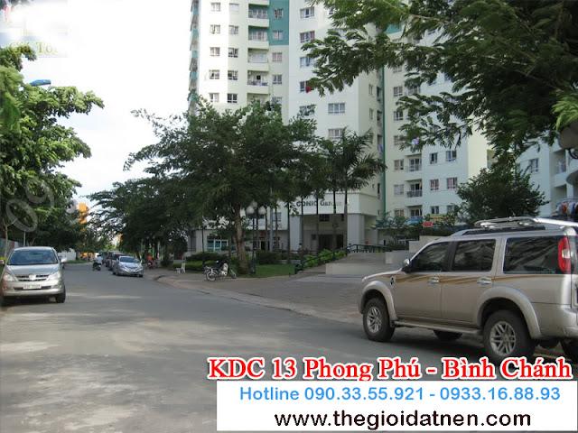 KDC 13   09 Bán gấp đất nền nhà phố KDC 13C, Bình Chánh giá 14.5 tr/m2