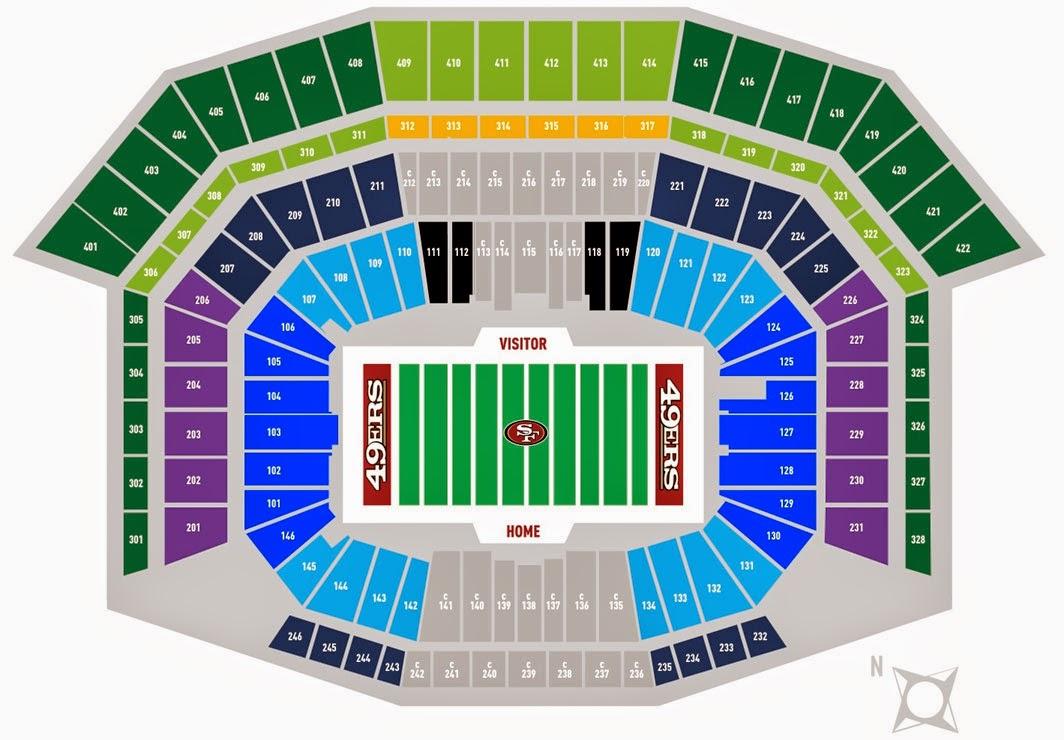 49ers levi s stadium seating chart levi s stadium 49ers premium