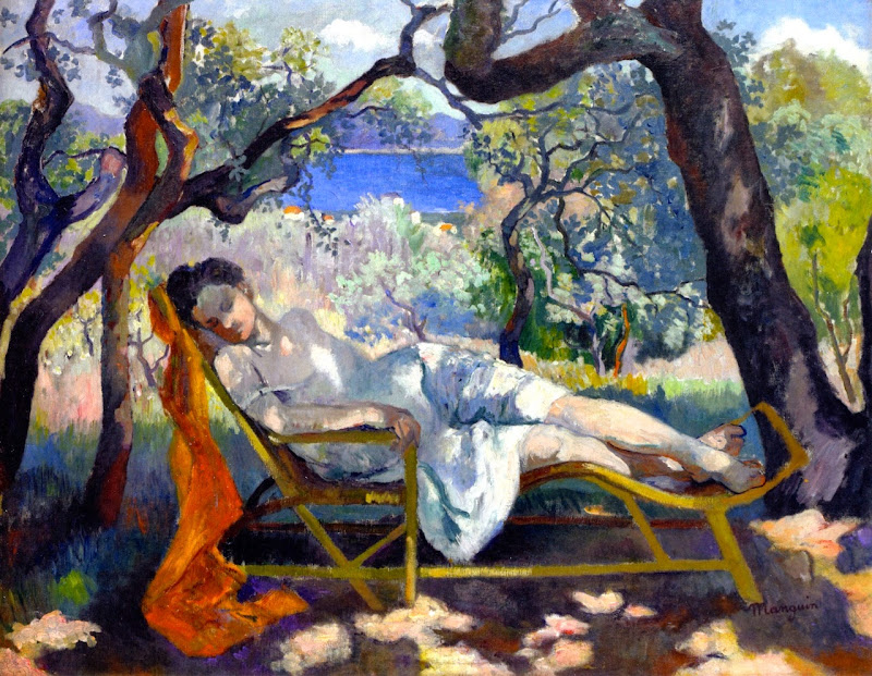 Henri-Charles Manguin - Siesta in the rocking chair