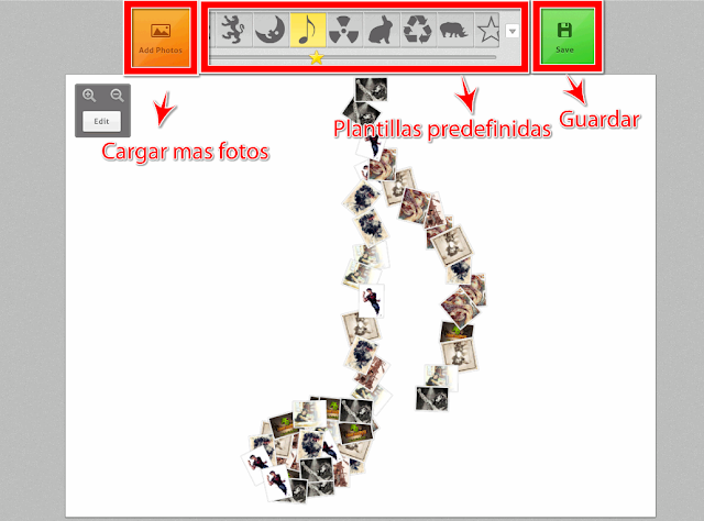 Crear collages de fotos en linea