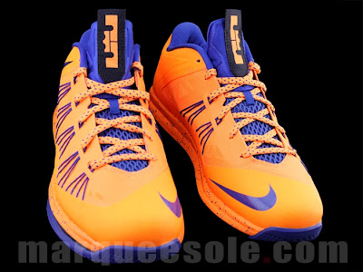 nike lebron 10 low gr orange blue 1 03 First Look at Nike LeBron X Low   Cavs Hardwood Classic?!