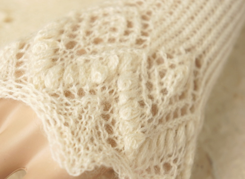 Knitted lace detail