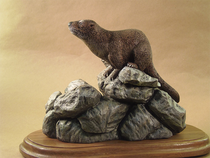 Otter on Rock