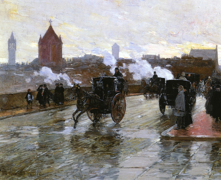 Childe Hassam - Clearing Sunset.