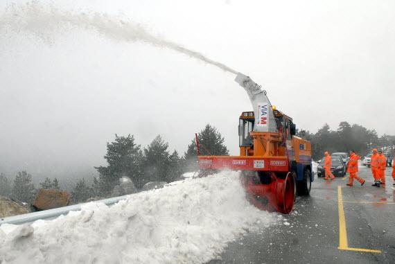 La cota de nieve se sitúa en más de 1.200 metros