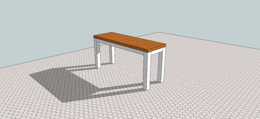 Kitchen Table SketchUp 2