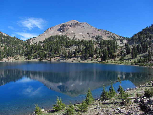 Mt. Lassen above Lake Helen
