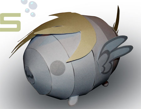 Derpy Hooves Blob Papercraft