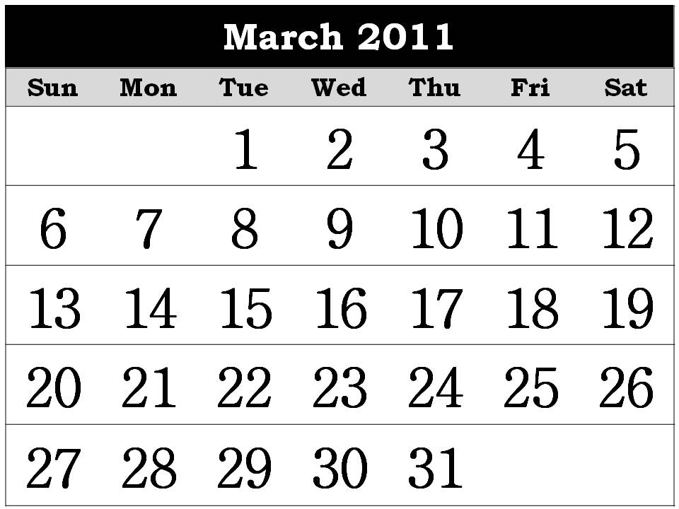 2011 calendar printable monthly. Free Homemade Calendar 2011