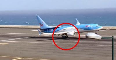 Piloto da TUIfly faz aterragem incrivel no Aeroporto do Funchal sob forte rajada de vento