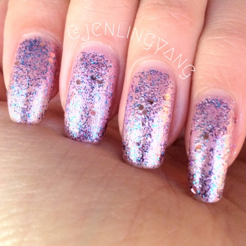 etude house dear my party nails nail polish ppp502 halloween day with sinful colors purple diamond