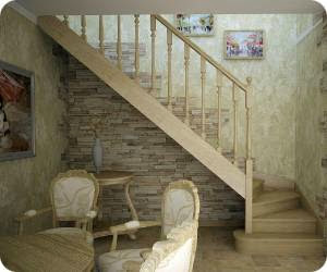 Деревянные лестницы для загородного