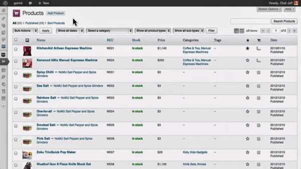 WordPress ShoppingCart Plugin: WooCommerce Product Management