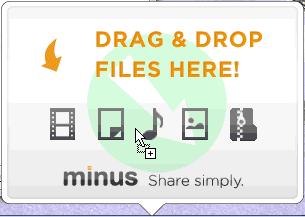 ファイルをドロップ