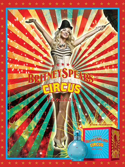 HOT SINGER ACTRESS BRITNEY SPEARS FAMOUS PERFUME CIRCUS FANTASY
