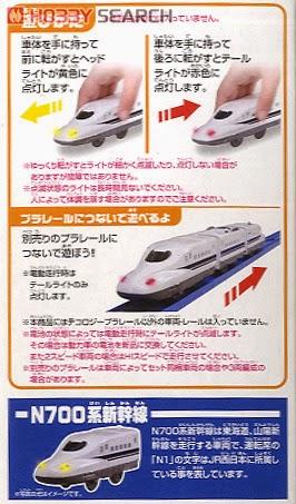 Mô hình Tàu hỏa có đèn Shinkansen N700 chạy bằng đẩy tay
