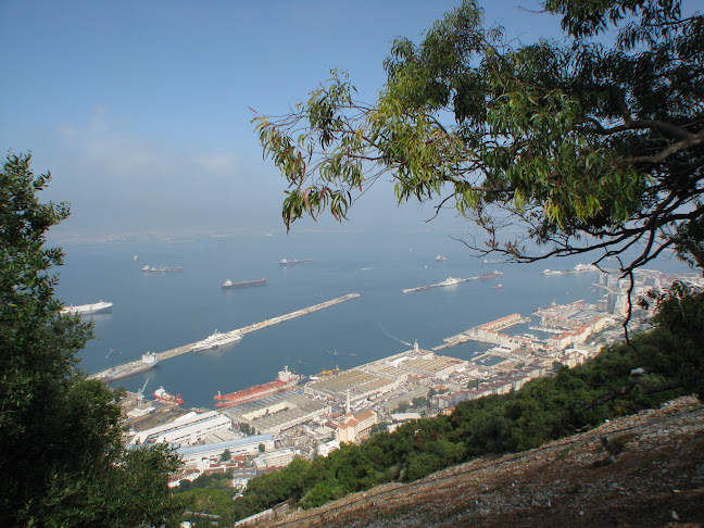 Scenic oceanview of Gibraltar, UK from the Rock
