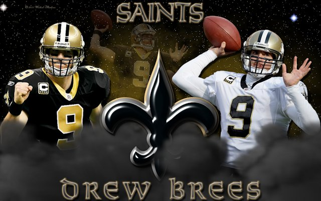 Drew Brees New Orleans Saints Wallpaper