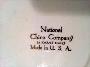 National China Company 22 karat Gold Plated Plate Made in USA