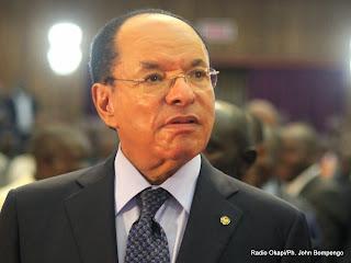 Le président du Senat congolais, Léon Kengo Wa Dondo lors de l'ouverture de la session parlementaire ordinaire le 15/03/2014 au palais du peuple de Kinshasa. Radio Okapi/ Ph. John Bompengo
