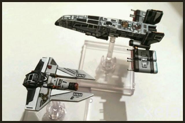 Interceptor M3-A y HWK-290 del Sol Negro/Black Sun repintada por Xela