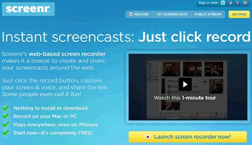 Screenr, para crear videotutoriales