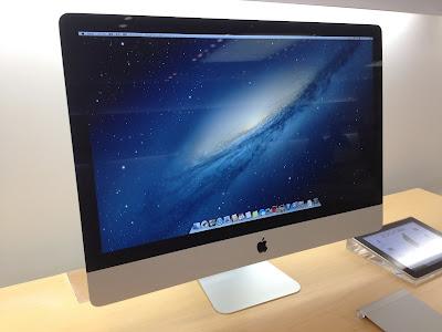 新型iMac(Late 2012)27インチモデル