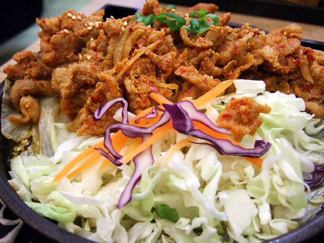 Spicy pork hotplate