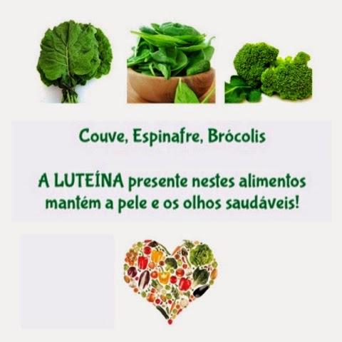 Alimentos ricos em LUTEINA mantém a pele e os olhos saudáveis!