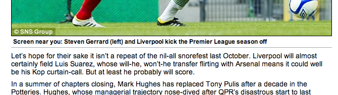 Daily FAIL! The Mail think Luis Suarez will almost certainly play against Stoke