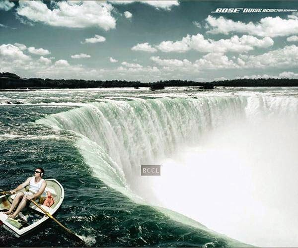 Bose's waterfall advertisement for its noice reduction headphones is one of the best ads ever procuded by the company.