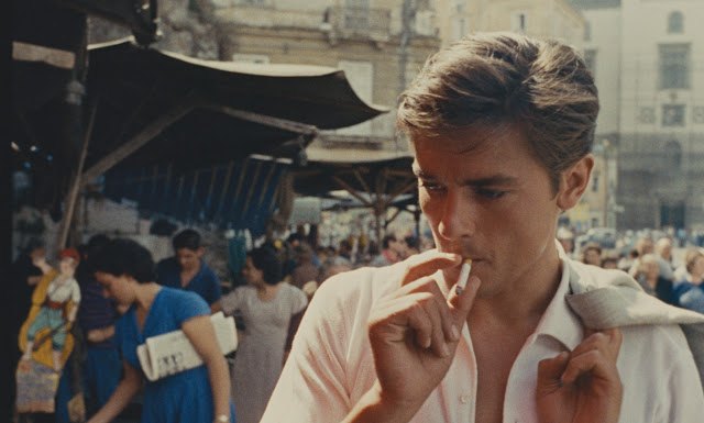 Alain Delon as Tom Ripley in the fish market Plein Soleil