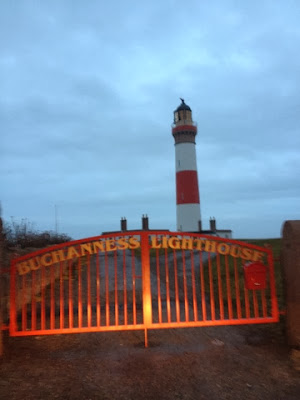 Foodie Quine - A stormy night at Buchanness Lighthouse, Boddam, Aberdeenshire. Unusual places to stay in Scotland.