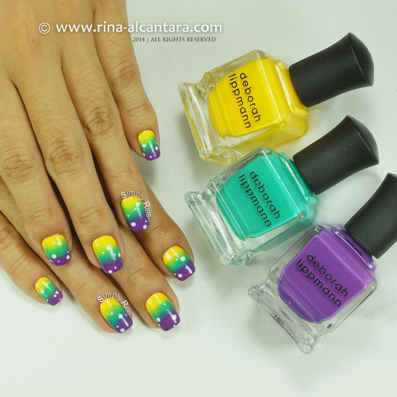 80s Gradient Manicure by Simply Rins