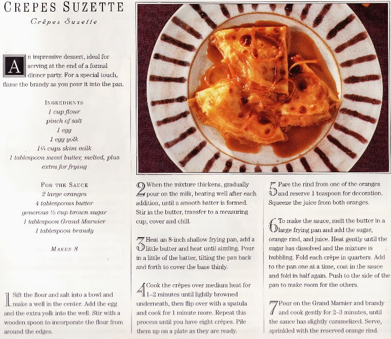 Crepes Suzette | Classic French Cookbook 1996