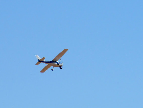 A plane that buzzed us a couple of times while touring Goblin Valley