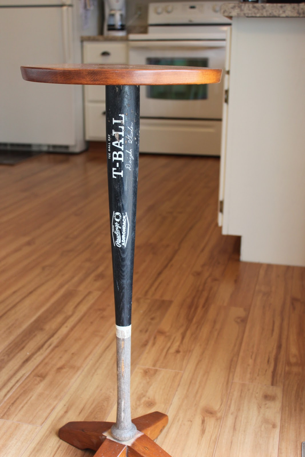 I Had Him Replace The Table Leg With My New Old Bat