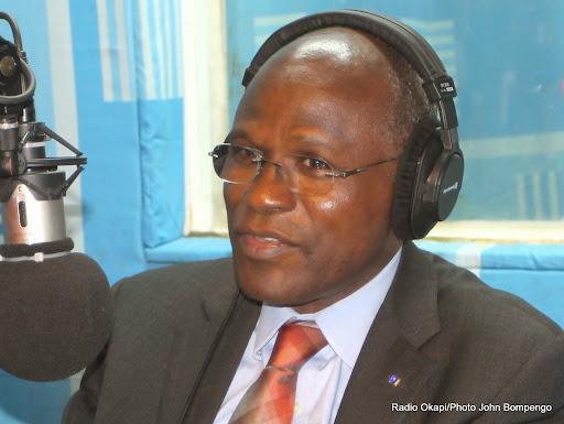 Moustapha Soumare, DSRSG le 23/10/2014 à la rédaction de Radio Okapi à Kinshasa/ Photo John Bompengo