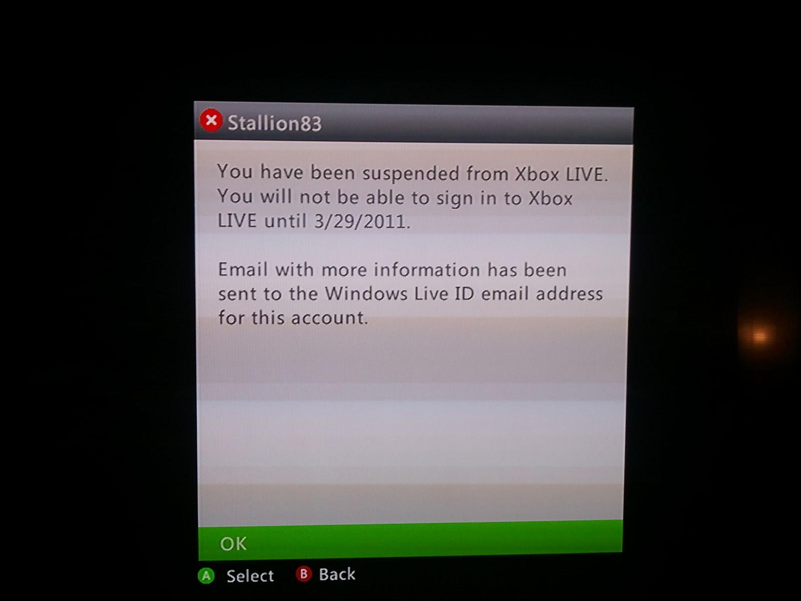 Xbox live account not updating