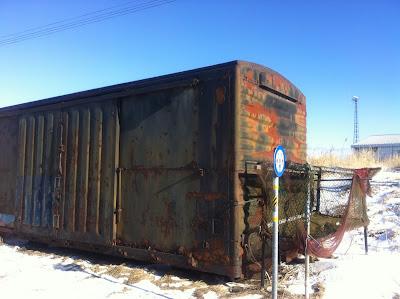 錆びついた貨物列車