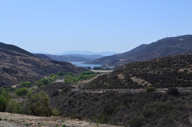 a peek at Castaic Lake
