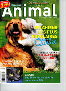 Magazine Animal Quebec Septembre 2011
