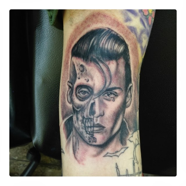 Crying Baby Tattoo: Ink Sessions Tattoo: Johnny Depp Cry Baby Zombie Tattoo