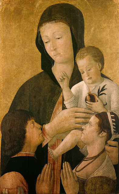 Gentile Bellini - Madonna with child and two donors - Google Art Project