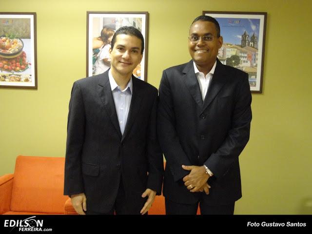 Dr. Marcos Pereira [esq], e Edilson Ferreira [dir]