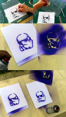 Fabricando el stencil de Clonetrooper Star Wars 2