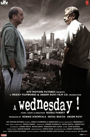Poster Of Hindi Movie A Wednesday (2008) Free Download Full New Hindi Movie Watch Online At alldownloads4u.com