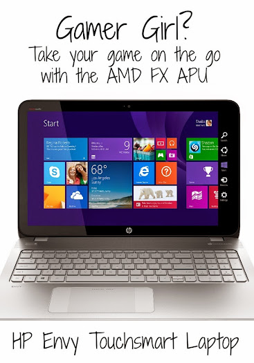 Gamer girl (or guy)? Take your gaming on the go with the AMD FX APU HP Envy Touchsmart Gaming Laptop